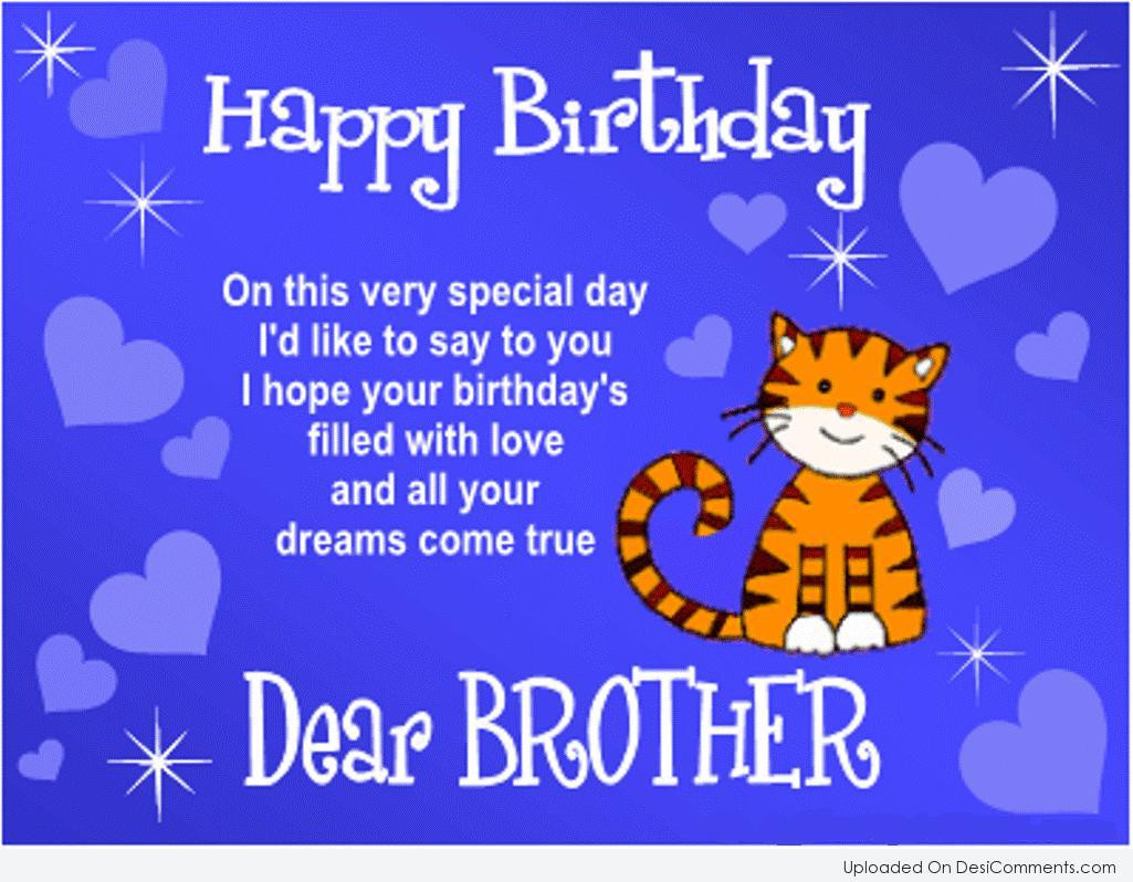 Best Birthday Quotes For Brother  Birthday Wishes for Brother Graphics for