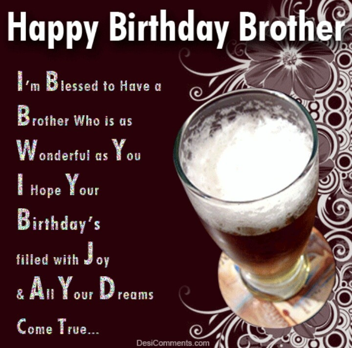 Best Birthday Quotes For Brother  happy birthday brother Happy birthday