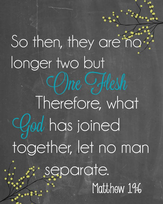 Bible Marriage Quotes  Check out Chalkboard Matthew 19 6 Printable Instant