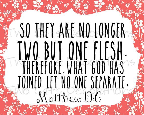 Bible Marriage Quotes  Marriage Wedding Bible Verses Love Scripture by