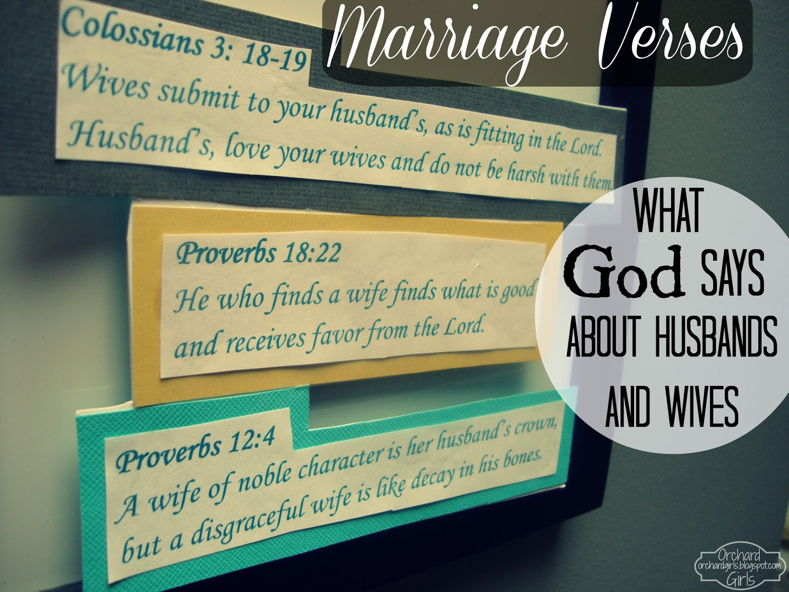 """Bible Marriage Quotes  Orchard Girls """"I love you because"""" Board FREE Printable"""