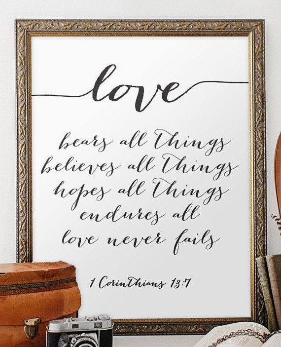 Bible Quotes Marriage  Wedding quote from the bible verse print wall art decor