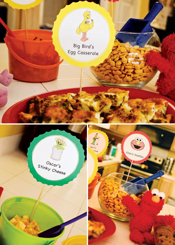 Big Party Food Ideas  Colorful DIY Sesame Street Birthday Party Hostess with