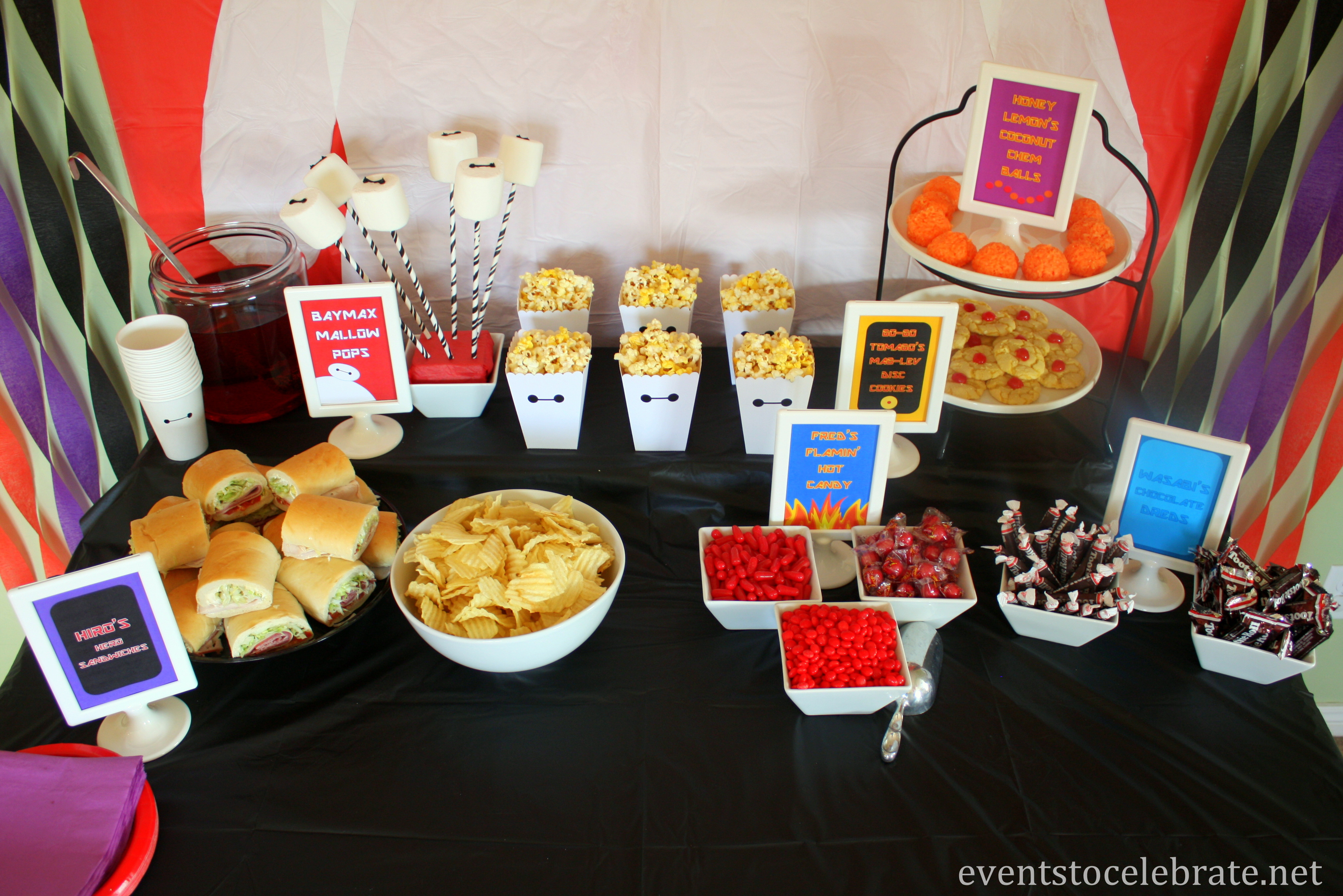 Big Party Food Ideas  Big Hero 6 Birthday Party events to CELEBRATE