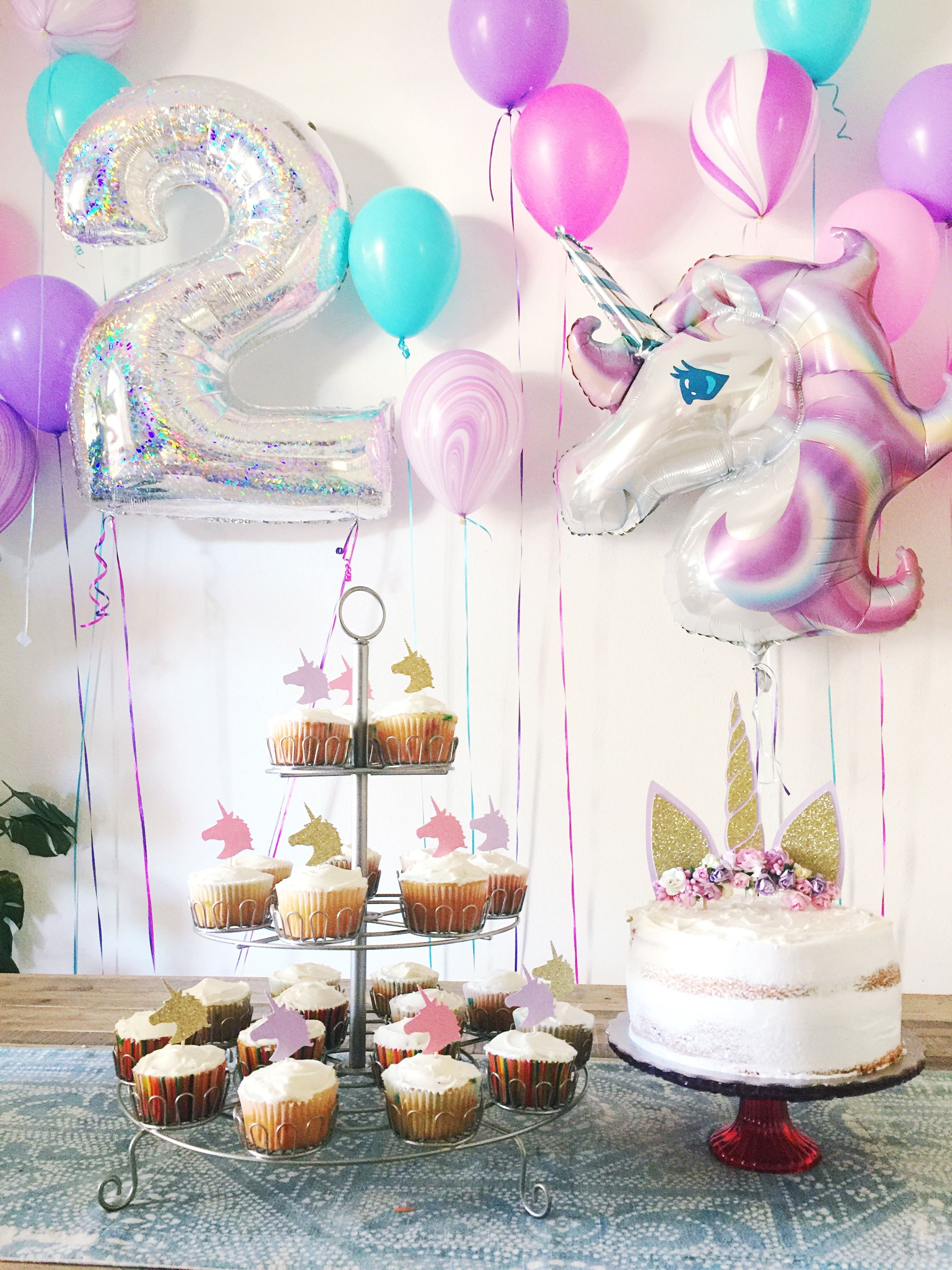 Birthday Gift Ideas For 2 Year Old Baby Girl  2 year old Unicorn Birthday Party Party