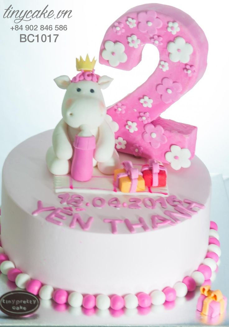 Birthday Gift Ideas For 2 Year Old Baby Girl  Birthday cake with little horse for baby girl 2 years old