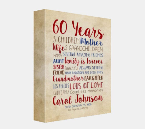 Birthday Gift Ideas Mother In Law  Birthday Gift for Mom 60th Birthday 60 Years Old Gift