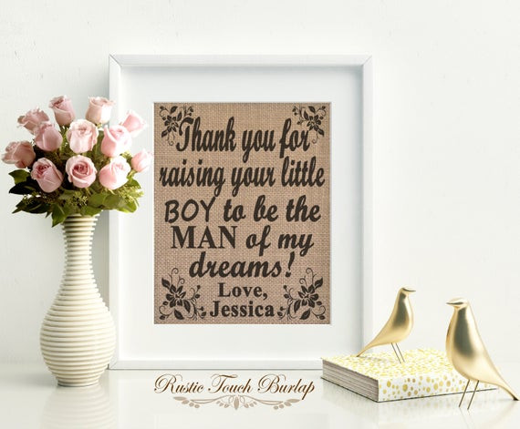 Birthday Gift Ideas Mother In Law  Mother in law birthday t Mother of the by RusticTouchBurlap