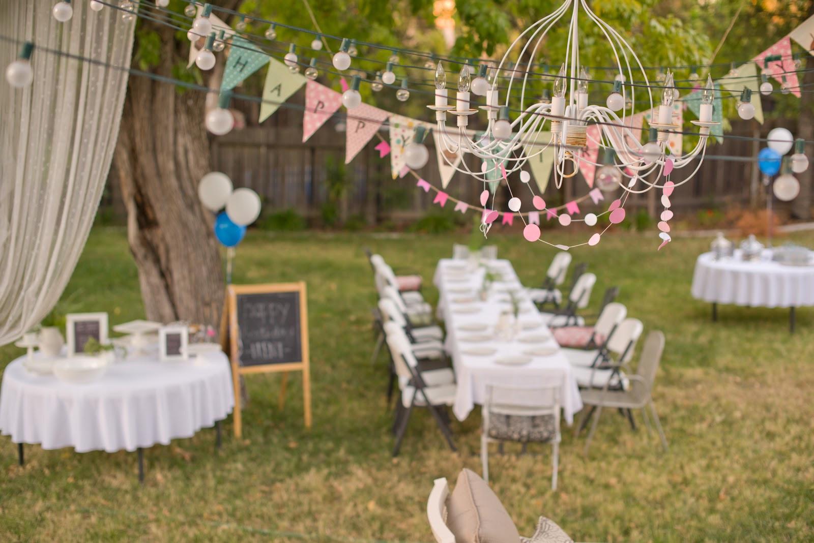 Birthday Party Ideas Backyard  Domestic Fashionista 31 Days of Creative Homemaking