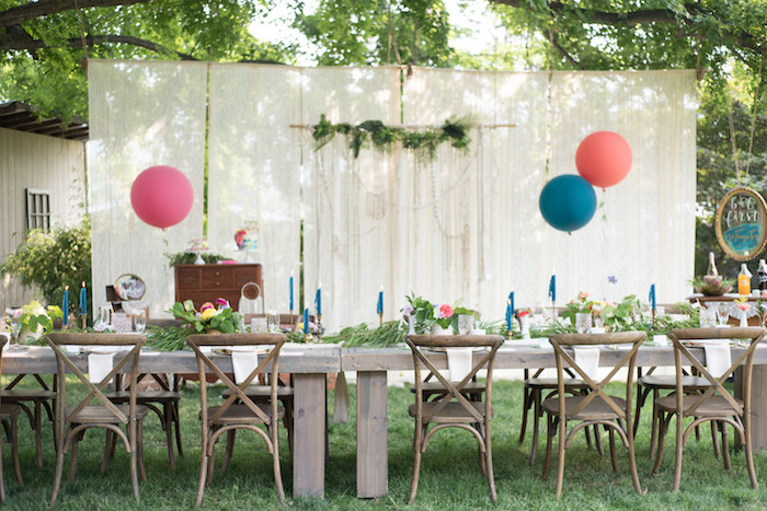 Birthday Party Ideas Backyard  Kara s Party Ideas Boho Backyard Brunch Birthday Party