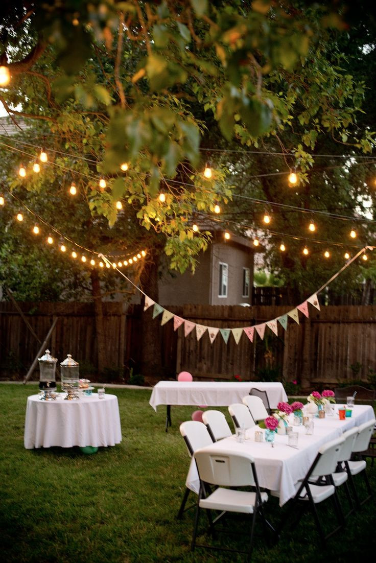 Birthday Party Ideas Backyard  25 best ideas about Engagement Parties on Pinterest