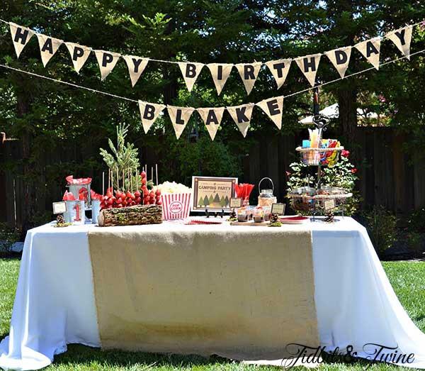 Birthday Party Ideas Backyard  Backyard Campout Birthday Party