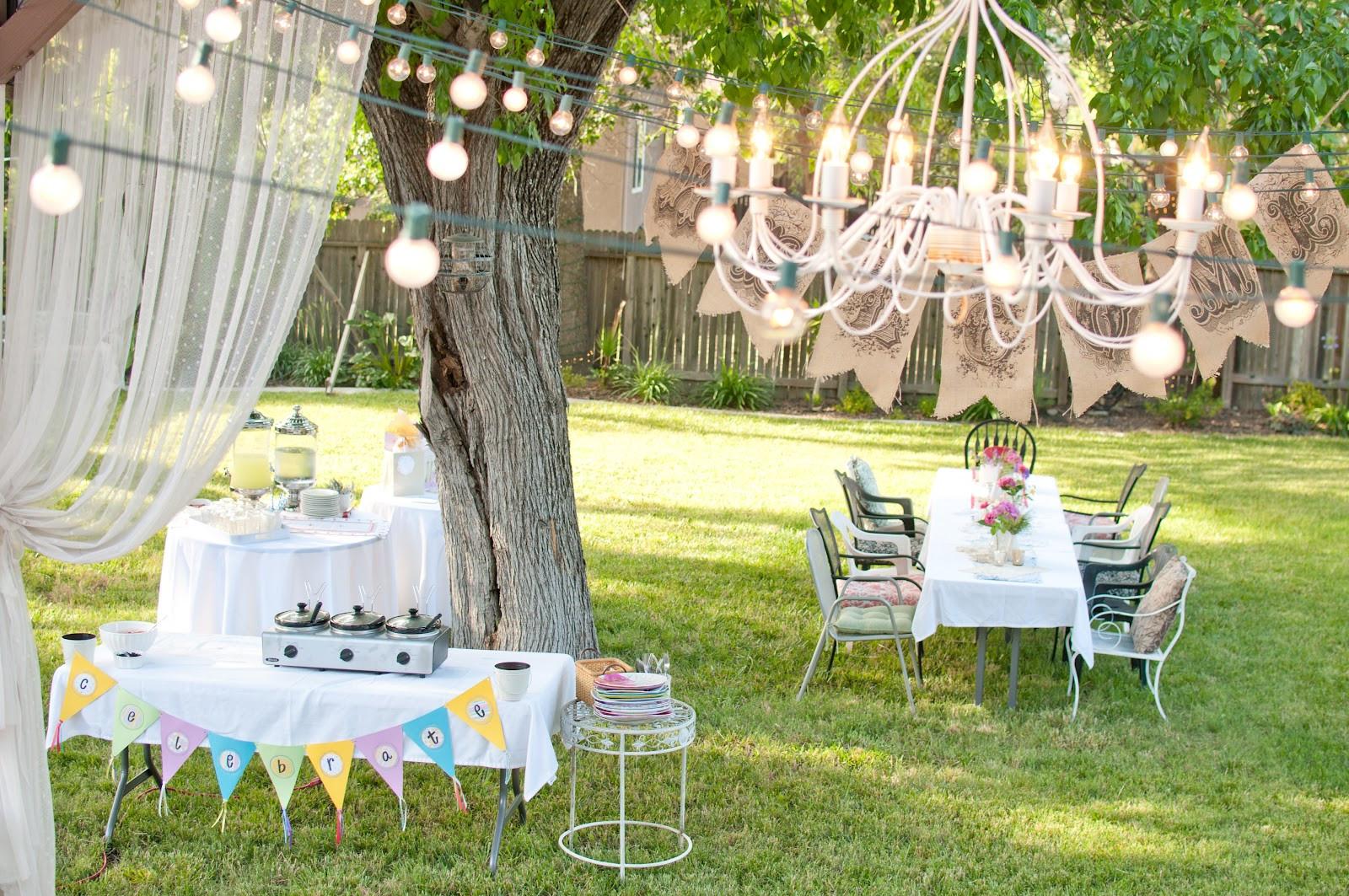 Birthday Party Ideas Backyard  Domestic Fashionista Summer Backyard Birthday Party