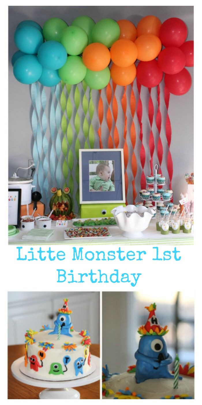 Birthday Party Ideas For Boys  Hunter s first birthday couldn t have gone any better The