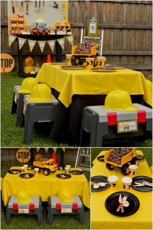 Birthday Party Ideas For Boys  Boys Construction Themed Birthday Party Ideas Spaceships