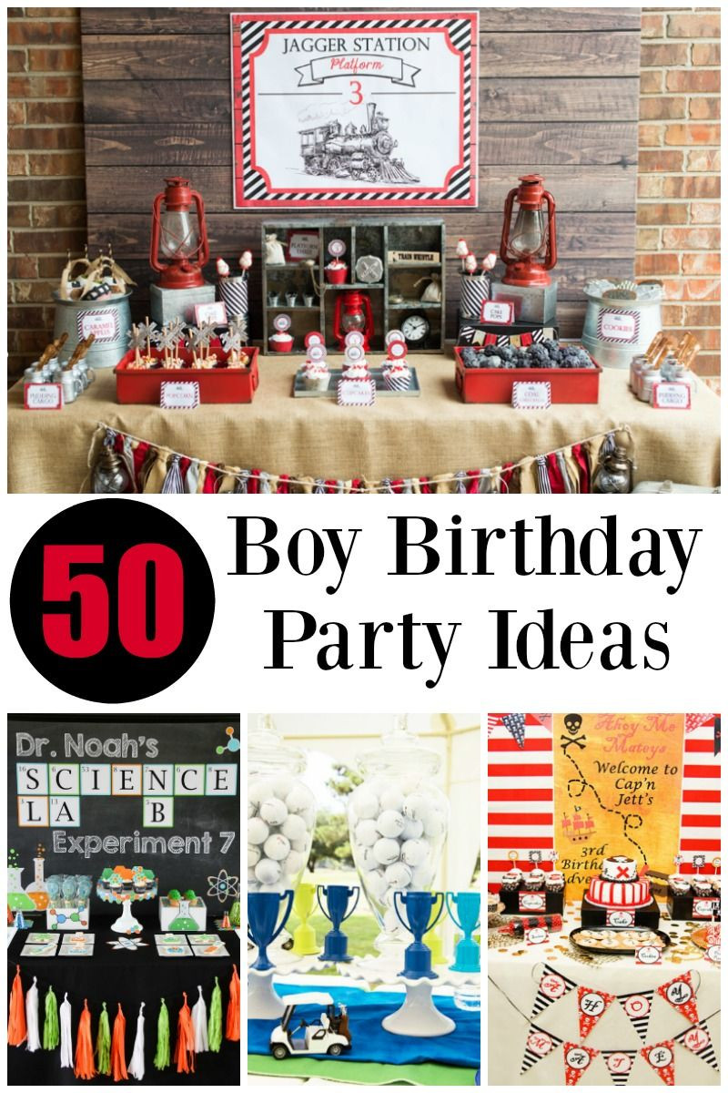 Birthday Party Ideas For Boys  50 of the BEST Boy Birthday Party Ideas
