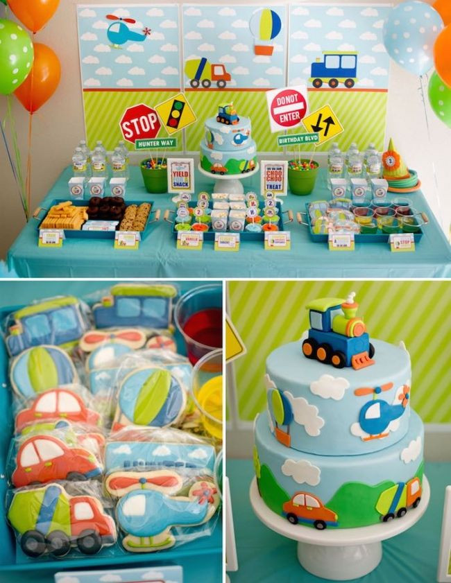 Birthday Party Ideas For Boys  Boy s Transportation Themed Birthday Party