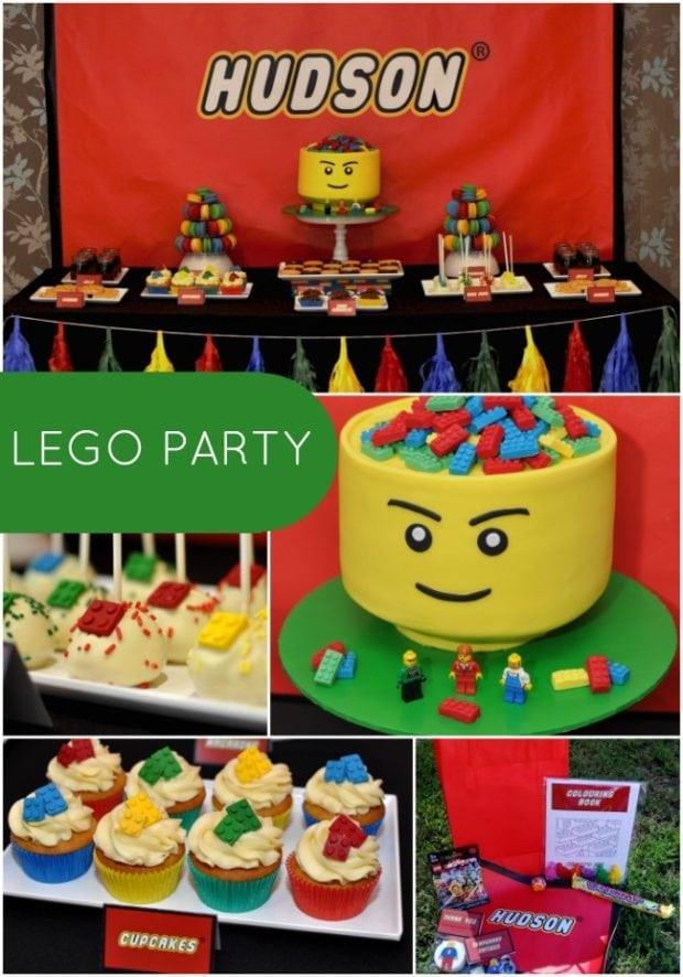 Birthday Party Ideas For Boys  Boy s Lego Themed 5th Birthday Party