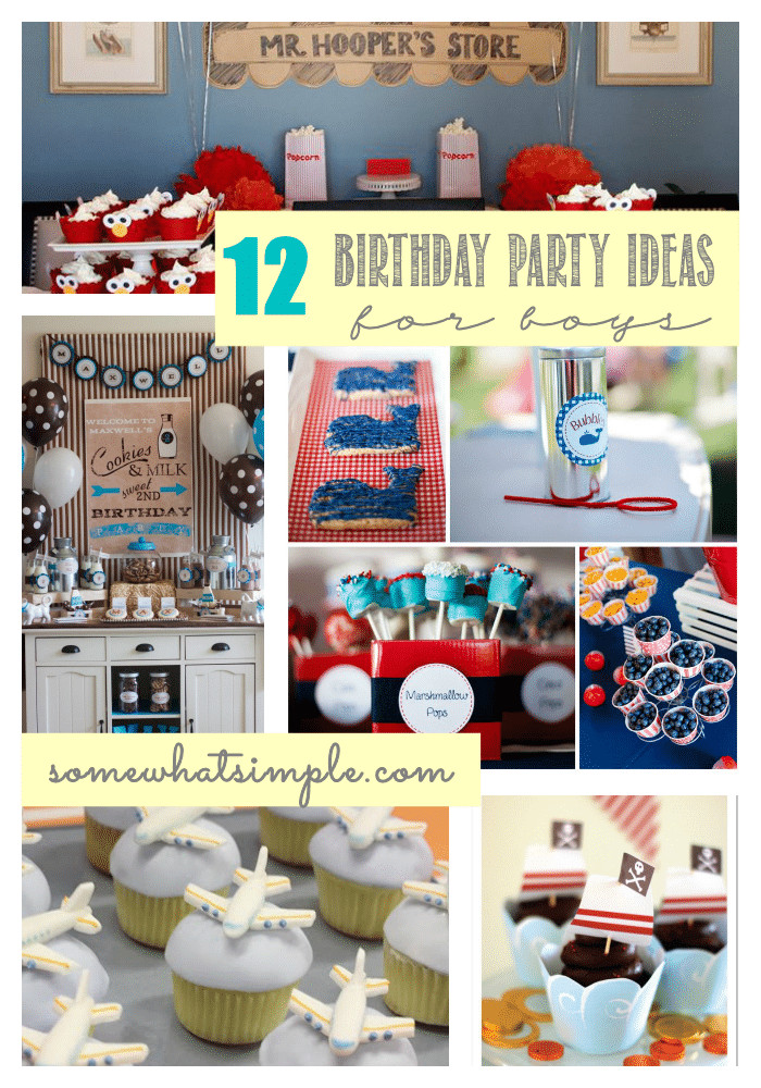 Birthday Party Ideas For Boys  Birthday Party Ideas for Boys Somewhat Simple