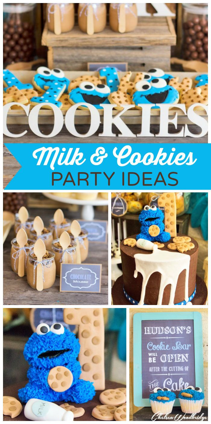 """Birthday Party Ideas For Boys  MIlk and Cookies Birthday """"Hudson s Milk and Cookie"""