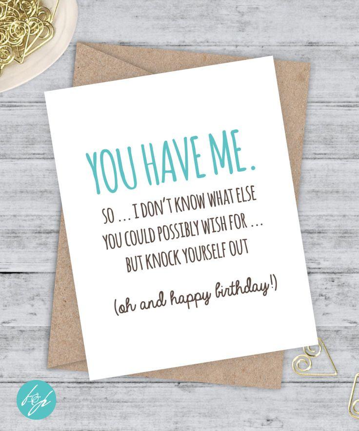 Birthday Quotes For Boyfriend  Birthday Card Funny Boyfriend Card Funny Girlfriend