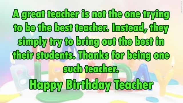 Birthday Quotes For Teacher  TOP 110 Sweet Happy Birthday Wishes for Family & Friends