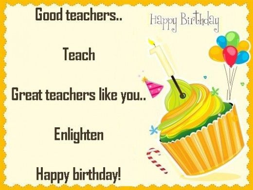 Birthday Quotes For Teacher  Birthday Quotes for Teachers from Students 5 – Funpro