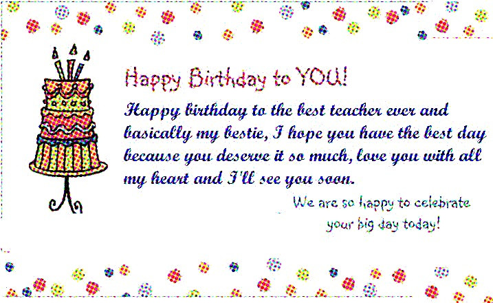 Birthday Quotes For Teacher  Teacher Happy Birthday Wishes and Quotes