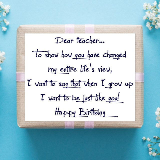 Birthday Quotes For Teacher  Birthday Wishes for Teachers Quotes and Messages
