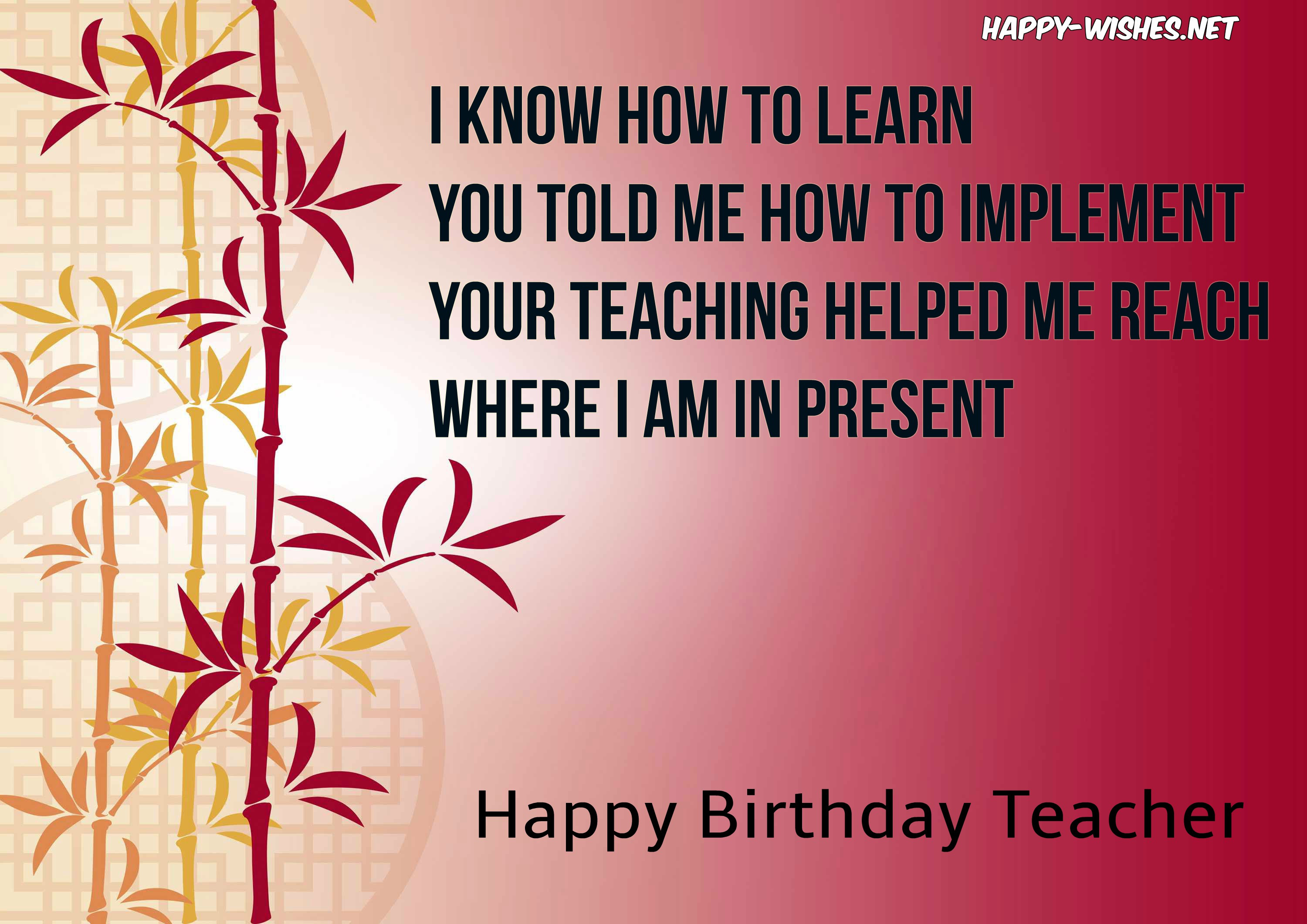 Birthday Quotes For Teacher  Happy Wishes Quotes Memes & Messages