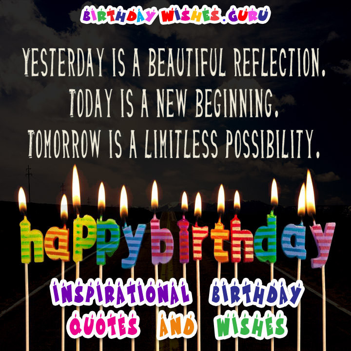 Birthday Quotes Inspirational  Inspirational Birthday Quotes and Wishes