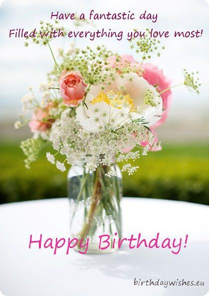 Birthday Quotes With Flowers  birthday card with wildflowers … Happy Brithday