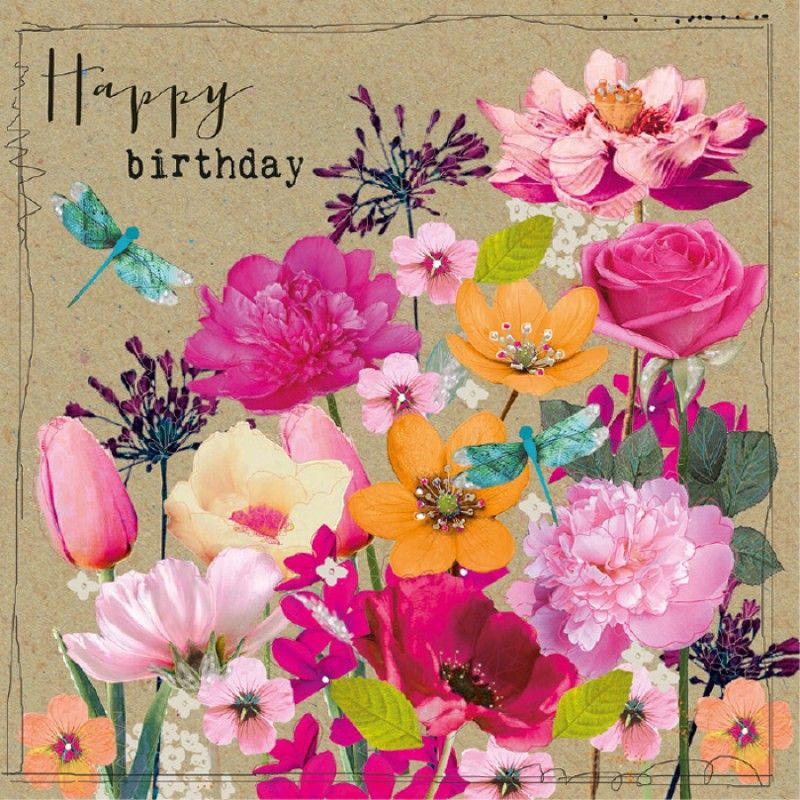 Birthday Quotes With Flowers  Birthday Happy birthday flower Pinterest