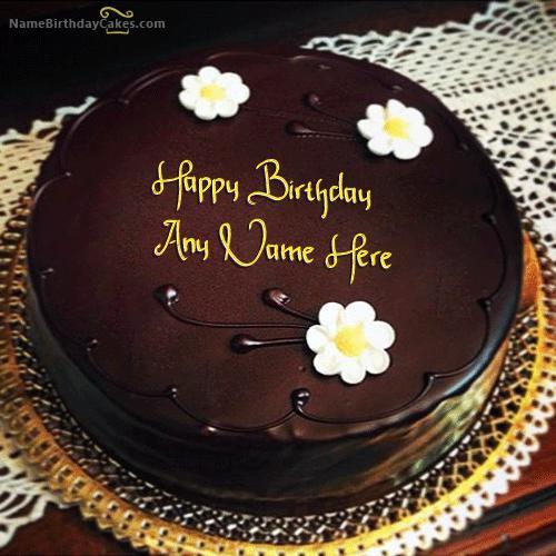Birthday Wishes Cake With Name  Amazing Chocolate Birthday Cake With Name