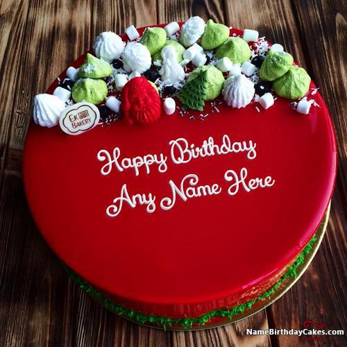 Birthday Wishes Cake With Name  Best Red Velvet Cake For Friends Birthday Wishes With Name