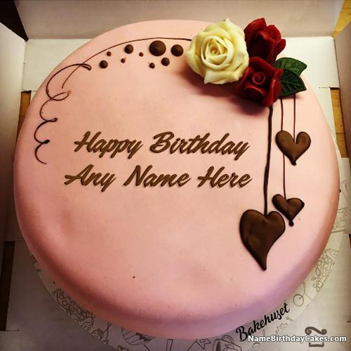 Birthday Wishes Cake With Name  Write Name Birthday Cake Card Wishes