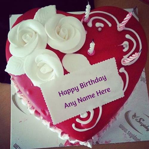 Birthday Wishes Cake With Name  name birthday wishes – Write name on image