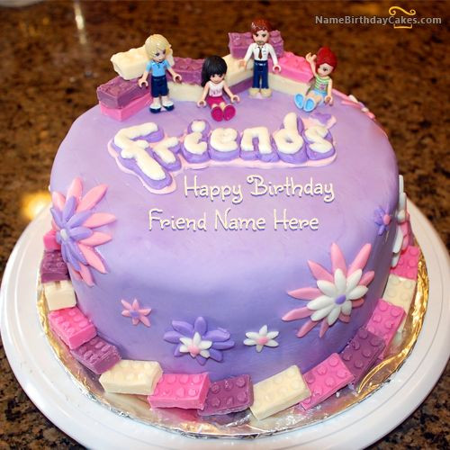 Birthday Wishes Cake With Name  Write name on Friendship Birthday Cake For Friends Happy