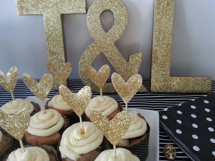 Black And Gold Engagement Party Ideas  17 Best ideas about Engagement Party Cupcakes on Pinterest