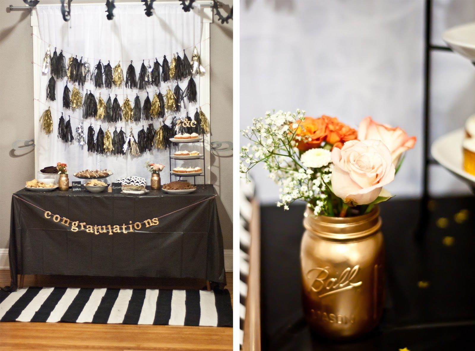 Black And Gold Engagement Party Ideas  Engagement Party Black and Gold My photos