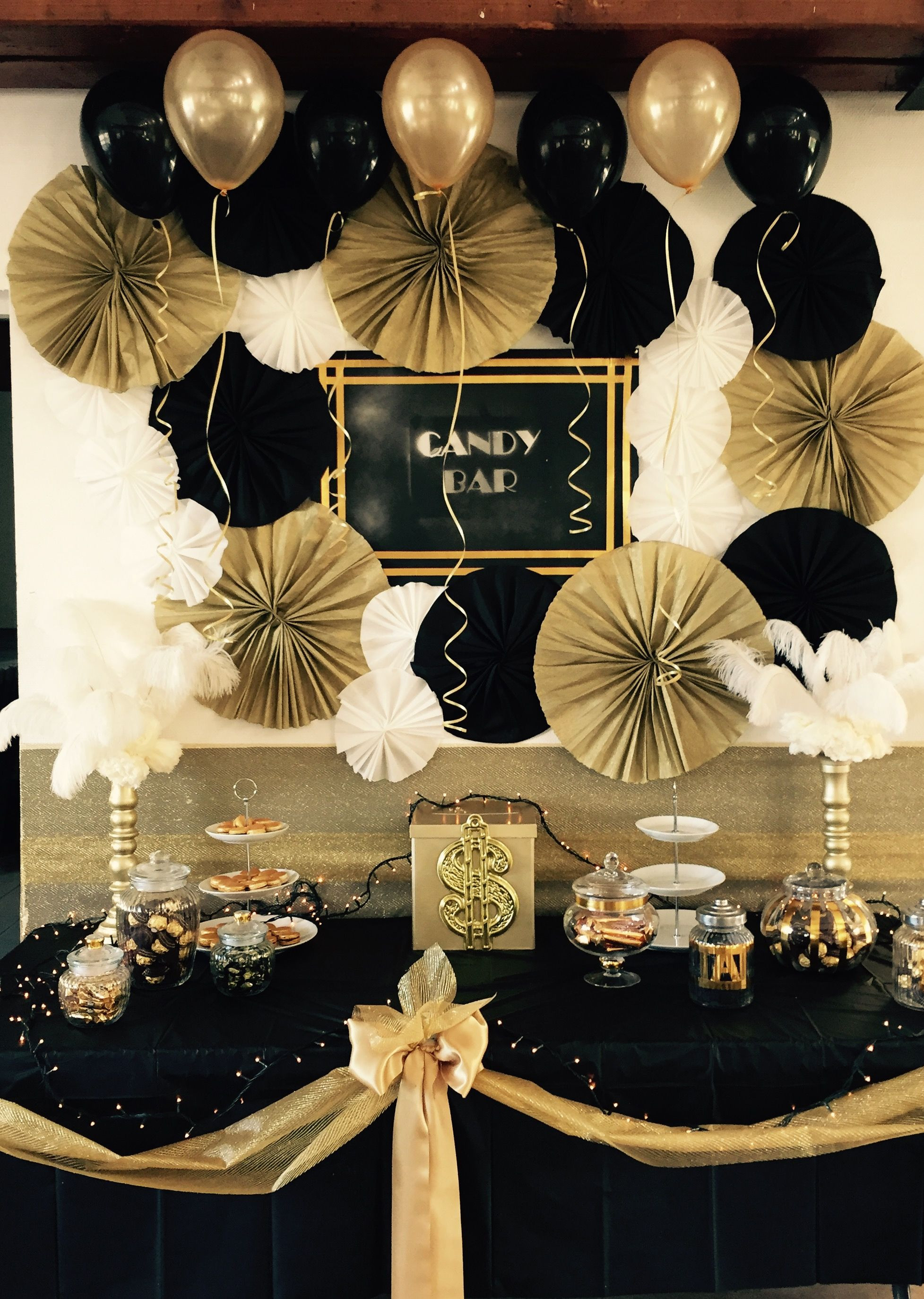 Black And Gold Engagement Party Ideas  Pin by Esther on gatsby