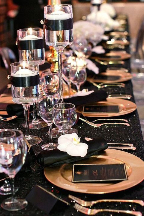 Black And Gold Engagement Party Ideas  54 Black White And Gold Wedding Ideas our day
