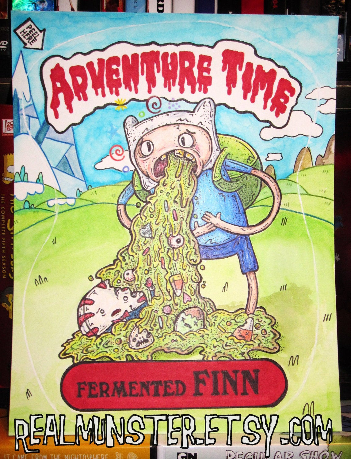 Boys Coloring Pages Garbage Pale Kids  Adventure Time Print Garbage Pail Kids Fermented