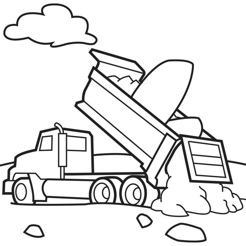 Boys Coloring Pages Garbage Pale Kids  Garbage Truck Coloring Pages Free Coloring Home