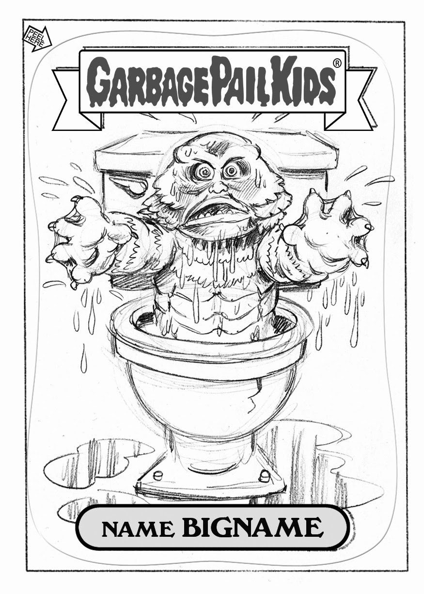 Boys Coloring Pages Garbage Pale Kids  BRENT ENGSTROM S BLOG Garbage Pail Kids Brand New Series