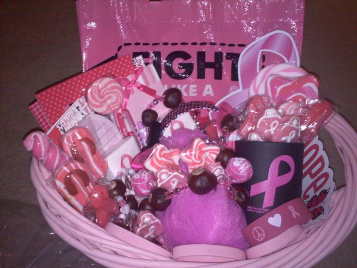 Breast Cancer Gift Basket Ideas  Breast Cancer Awareness Gift Basket from Connie s