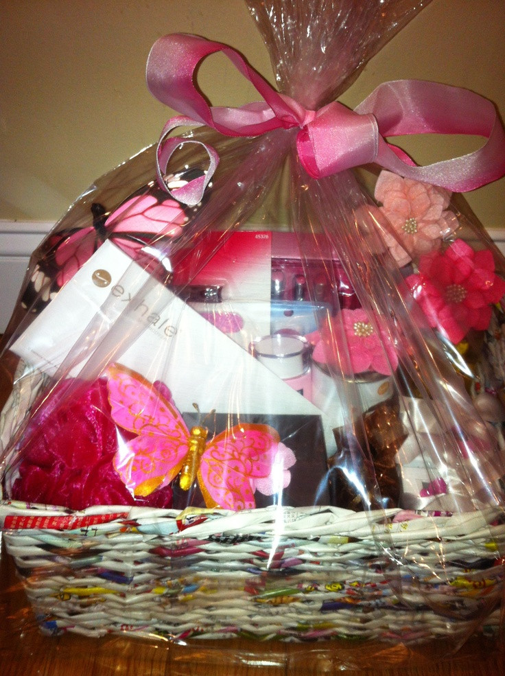 Breast Cancer Gift Basket Ideas  Breast Cancer Awareness themed Spa Raffle Basket donated