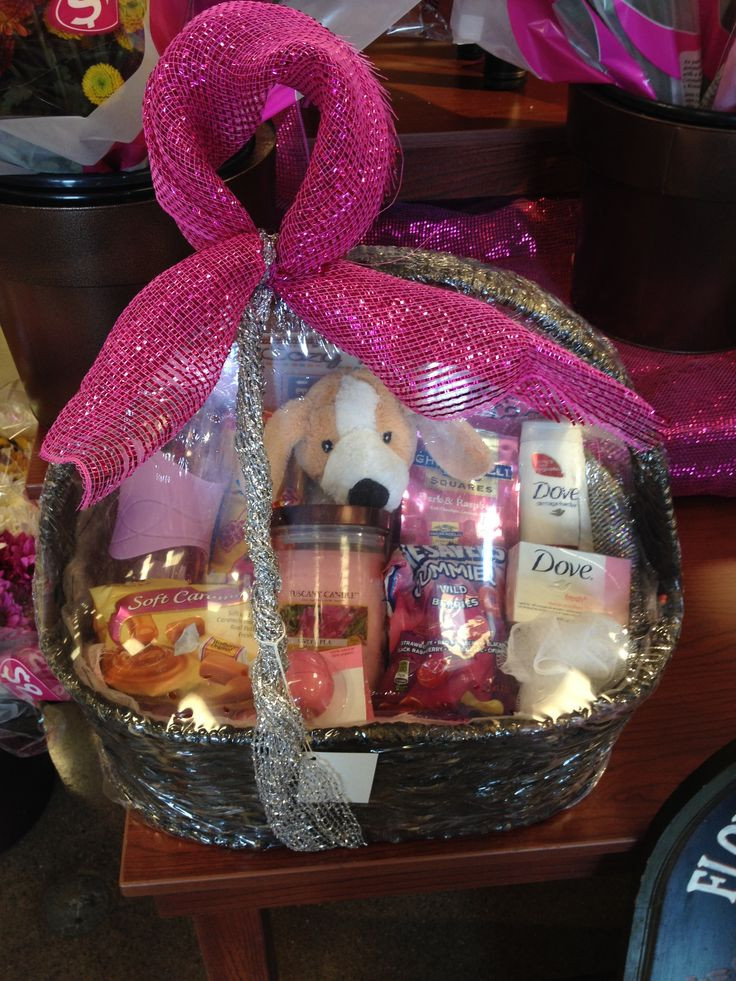 Breast Cancer Gift Basket Ideas  Pink Ribbon Breast Cancer awareness Gift Basket for women