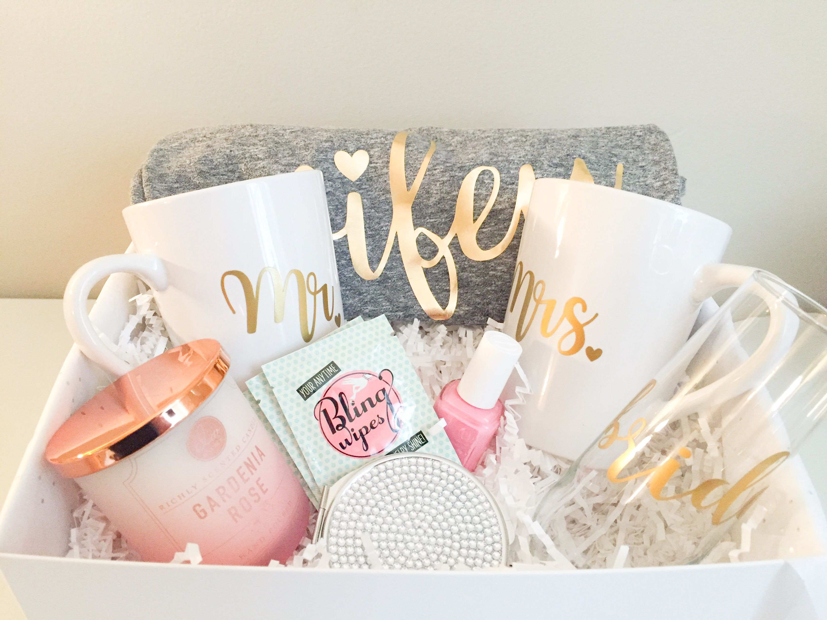 Bridal Gift Basket Ideas  Wifey Material Gifts for the Bride to Be