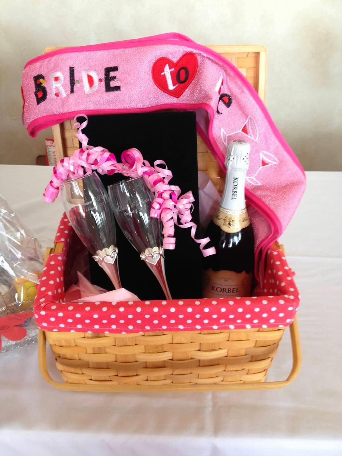 Bridal Gift Basket Ideas  2 Girls 1 Year 730 Moments to Wedding Wednesdays
